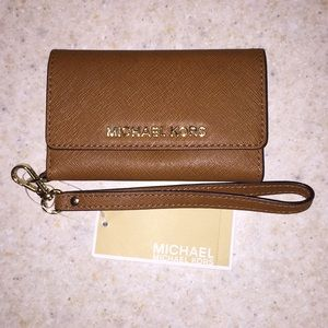 Michael Kors leather iPhone wallet case